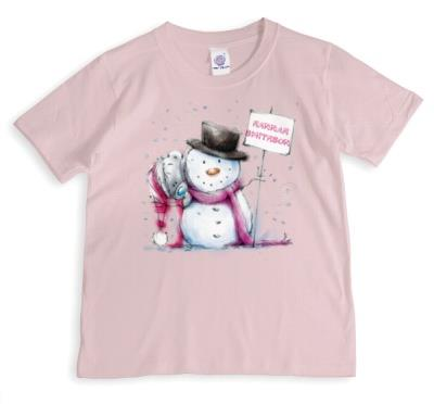 Merry Christmas Tatty Teddy Snowman Personalised T-shirt