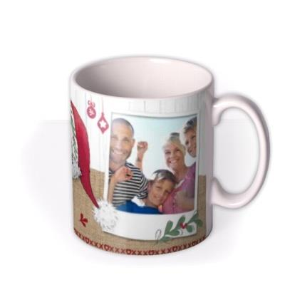 Jolly Christmas Tatty Teddy Brown Photo Upload Mug