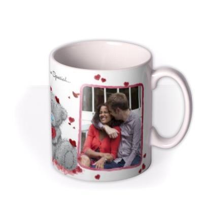 Valentines Day Tatty Teddy Heart Shaped Rose Photo Upload Mug