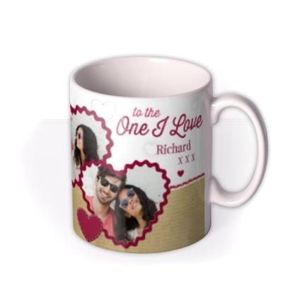Valentine's Day Tatty Teddy One I Love Photo Upload Mug