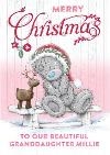 Me To You Tatty Teddy Merry Christmas Granddaughter Card