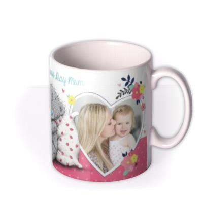 Mother's Day Tatty Teddy Floral Heart Photo Upload Mug