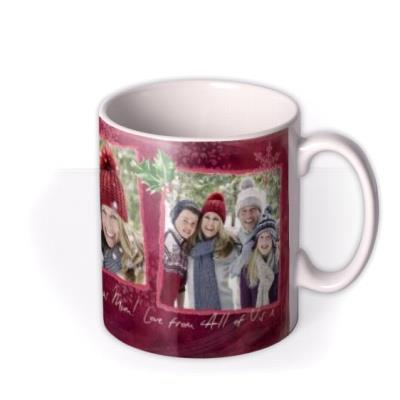Merry Christmas Tatty Teddy Lights Photo Upload Mug