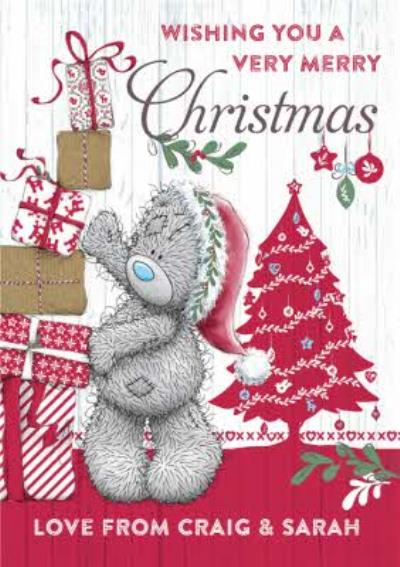 Me To You Tatty Teddy Wishing A Very Merry Christmas Card