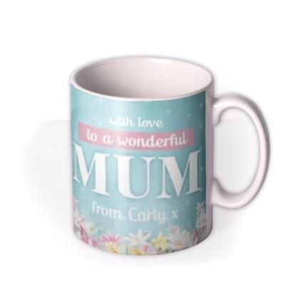 Tatty Teddy To A Wonderful Mum Personalised Mug
