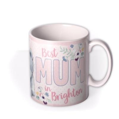 Tatty Teddy Best Mum Personalised City Photo Mug