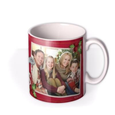 Merry Christmas Tatty Teddy Holly Photo Upload Mug