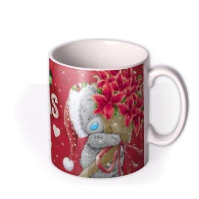 Merry Christmas Tatty Teddy Flowers Mum Photo Upload Mug