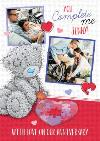 Tatty Teddy You Complete Me Personalised Photo Upload Anniversary Card