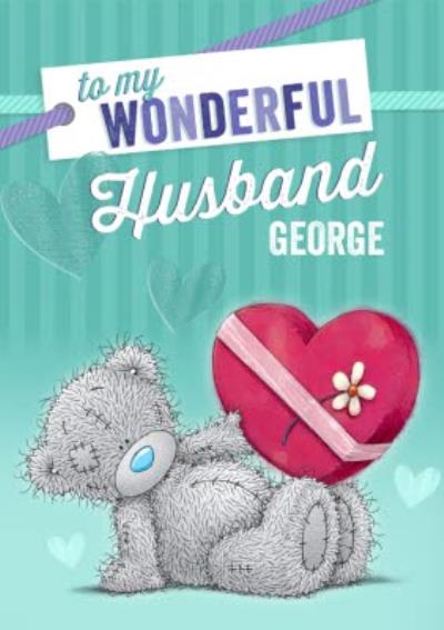 Me To You Tatty Teddy To My Wonderful Husband Card