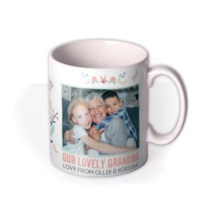 Tatty Teddy Our Lovely Grandma Personalised Photo Mug