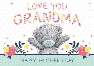 Tatty Teddy Love You Grandma Personalised Happy Mother's Day Card