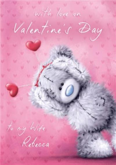 Tatty Teddy With Heart Accessories Personalised Happy Valentine's Day Card