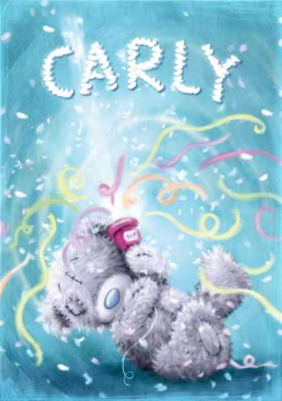 Tatty Teddy Party Popper Personalised Happy Birthday Card