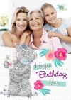 Me To You Tatty Teddy And Flowers Happy Birthday Gran Photo Card