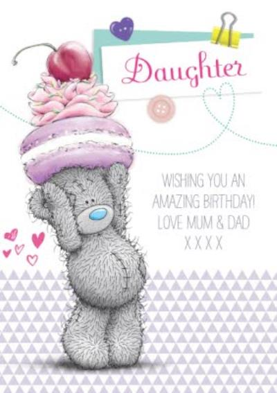 Tatty Teddy With Sweet Treats Happy Birthday Card For Daughter