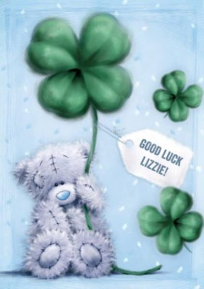 Me To You Tatty Teddy Personalised Good Luck Card