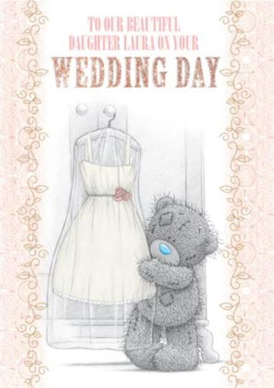 Tatty Teddy Wedding Dress Personalised Wedding Day Card For Our Daughter