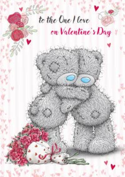 Tatty Teddy Hugs And Roses Personalised Valentine's Day Card