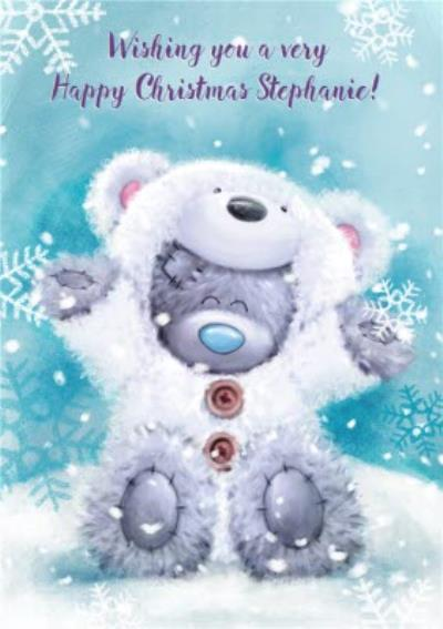 Me To You Tatty Teddy Personalised Happy Christmas Card