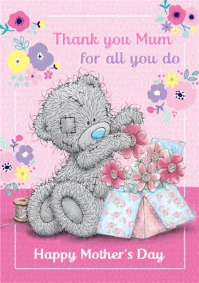 Mother's Day Card Tatty Teddy Thank You Mum for All You Do