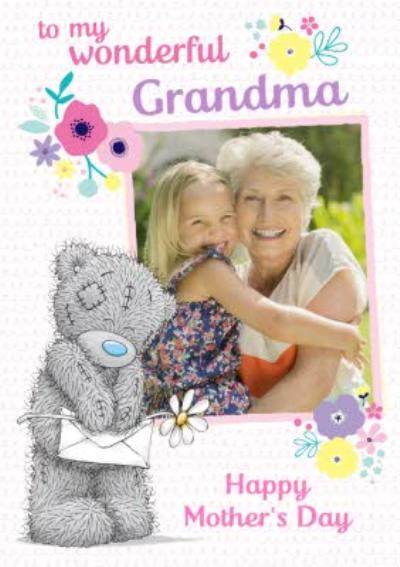 Tatty Teddy Wonderful Grandma Photo Upload Mother's Day Card