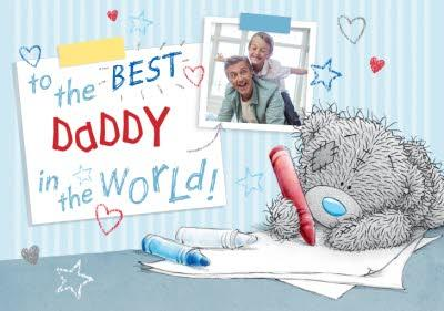 Me To You Tatty Teddy To The Best Daddy In The World Photo Card