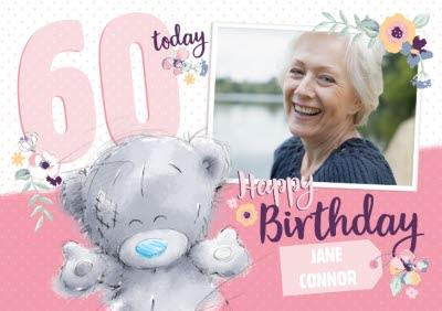 Me To You Tatty Teddy Happy 60Th Birthday Photo Card