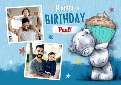 Me To You Tatty Teddy Happy Birthday Multi-Photo Card