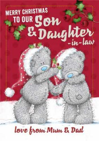 Son and Daughter in Law Me To You Christmas Card