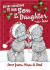 Me To You Tatty Teddy To Son And Daughter In Law Personalised Christmas Card