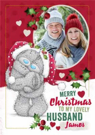 Me To You Tatty Teddy To Husband Photo Upload Christmas Card