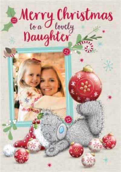 Me To You Tatty Teddy To Daughter Photo Upload Christmas Card