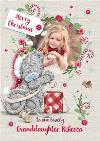 Me To You Tatty Teddy To Granddaughter Photo Upload Christmas Card