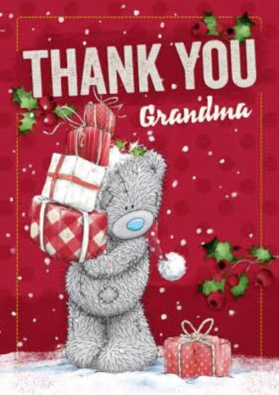 Me To You Tatty Teddy Personalised Christmas Thank You Card