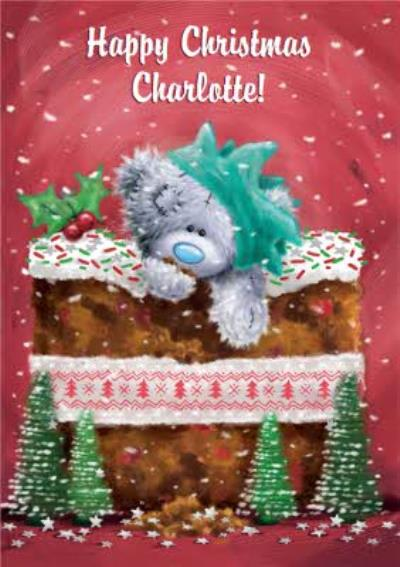 Me To You Tatty Teddy Giant Christmas Pudding Personalised Card