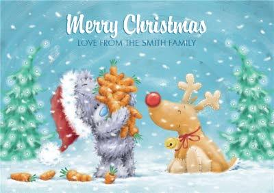 Me To You Tatty Teddy Carrots And Reindeer Personalised Christmas Card