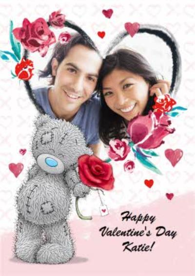 Carte Blanche Valentines Day Heart Photo Upload Card