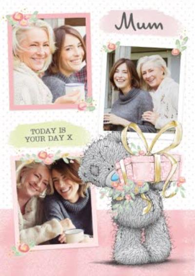 Mother's Day Card - Mum  - tatty teddy - photo upload card