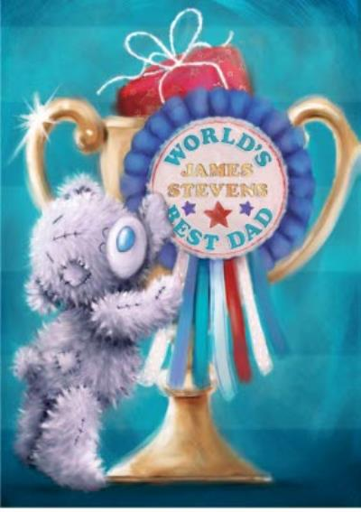 Tatty Teddy World's Best Dad Personalised Father's Day Card