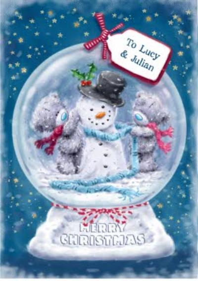 Snowman Globe Personalised Christmas Card