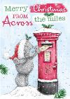 Me To You Tatty Teddy Across The Miles Personalised Christmas Card