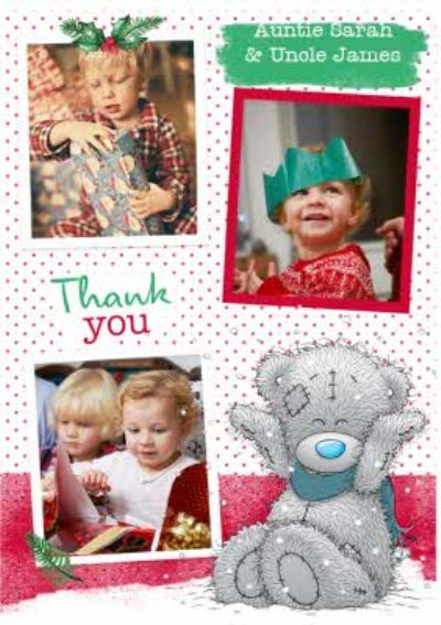 Me To You Tatty Teddy Photo Upload Thank You Christmas Card