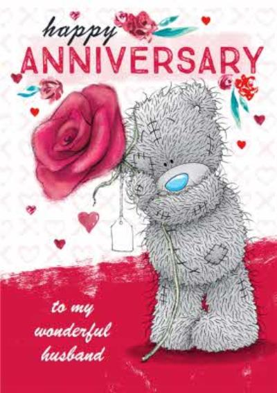 Tatty Teddy cute anniversary card - Husband