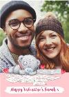 Me To You Tatty Teddy Writing Love Letters Valentine's Day Photo Card