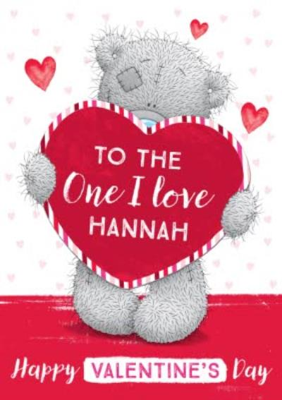 Me To You Tatty Teddy To The One I Love Heart Valentine's Day Card