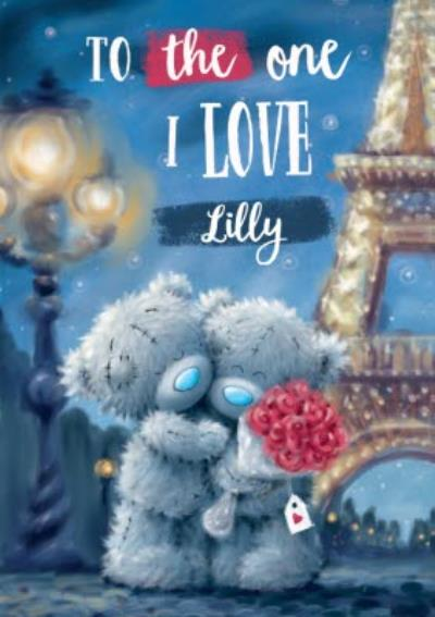 Me To You Tatty Teddy Bears Eiffel Tower Valentine's Day Card