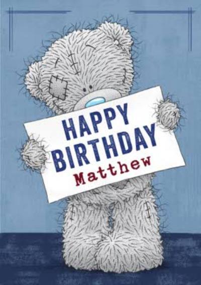 Tatty Teddy Card - Cute Happy Birthday