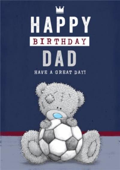 Tatty Teddy - Cute Happy Birthday Card - football