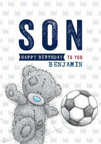 Awesome Cute Tatty Teddy Card Happy Birthday Son Football Moonpig Funny Birthday Cards Online Elaedamsfinfo